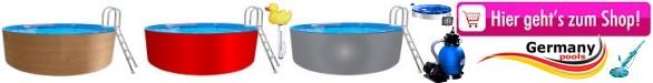 Rundbecken 2 50 m x 1 20 m poolleiter for Hersteller poolfolien
